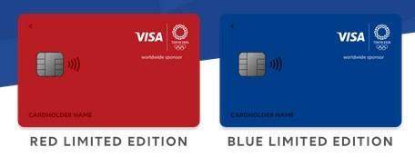 クレカ券面の色は青と赤が選択可能